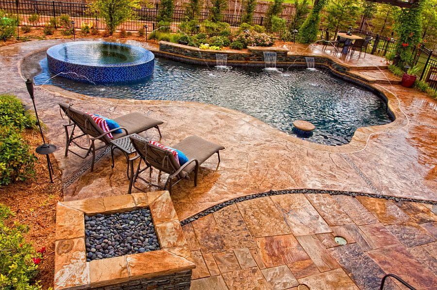 Outdoor Design Trend: 23 Fabulous Concrete Pool Deck Ideas on Patio Ideas Around Pool id=52890