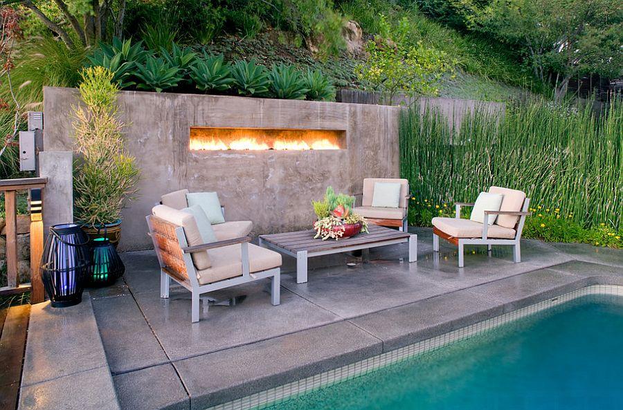 Outdoor Design Trend: 23 Fabulous Concrete Pool Deck Ideas on Pool Deck Patio Ideas  id=38302