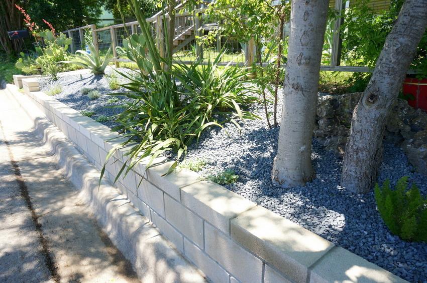 A DIY Cinder Block Retaining Wall Project on Backyard Cinder Block Wall Ideas  id=63242