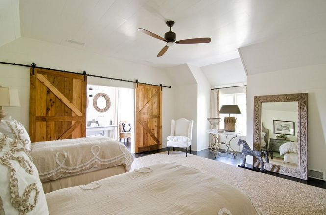 Sliding Barn Doors Add Texture To The Cool Bedroom Photography Virtual Studio Innovatons