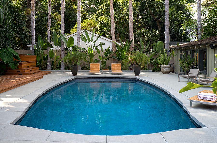 Outdoor Design Trend: 23 Fabulous Concrete Pool Deck Ideas on Pool Deck Patio Ideas  id=46469