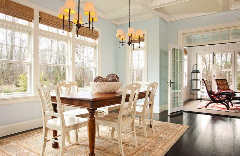 Use blue instead of white for a neutral backdrop [Design: Garrison Hullinger Interior Design]