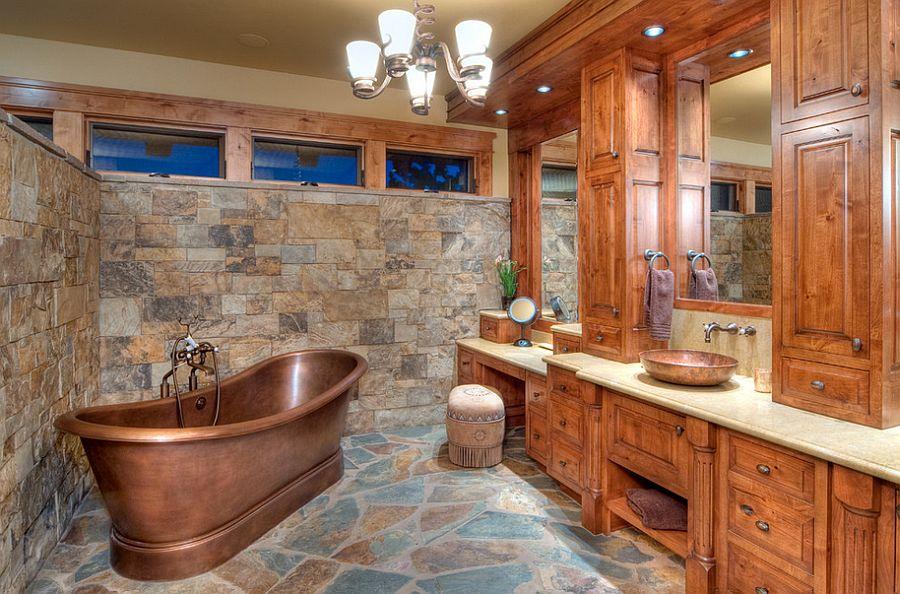 50 enchanting ideas for the relaxed rustic bathroom on rustic bathroom designs photos id=29415