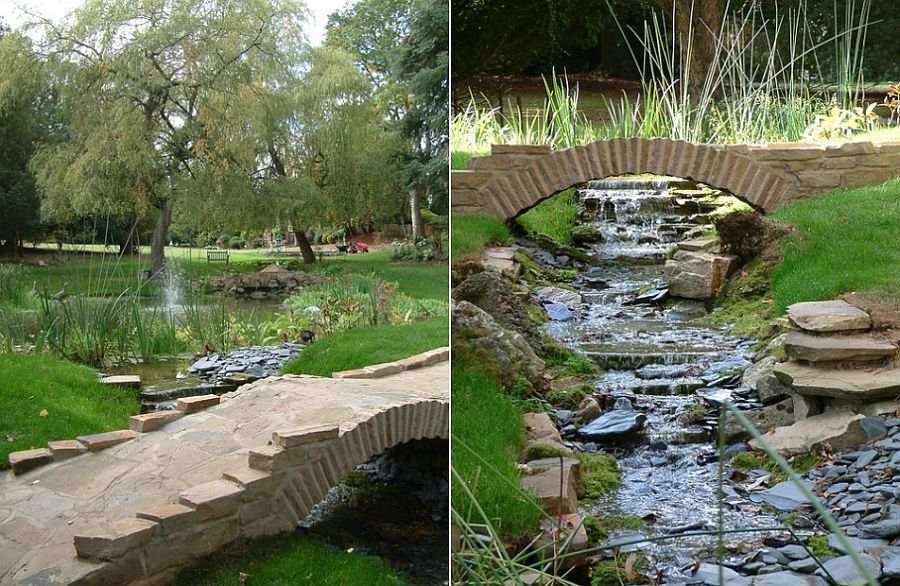 50 Dreamy and Delightful Garden Bridge Ideas on Backyard Stream Ideas id=17555