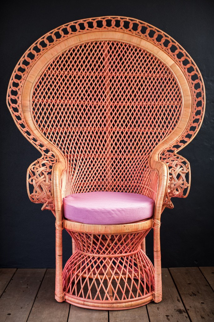 DIY Peacock Chair Ideas View in gallery Pink Peahen Chair from Millie   Eugene