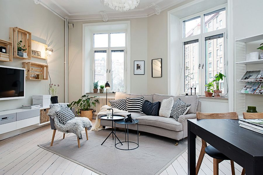 50 Chic Scandinavian Living Rooms Ideas, Inspirations on Apartment Decorating Styles  id=35633