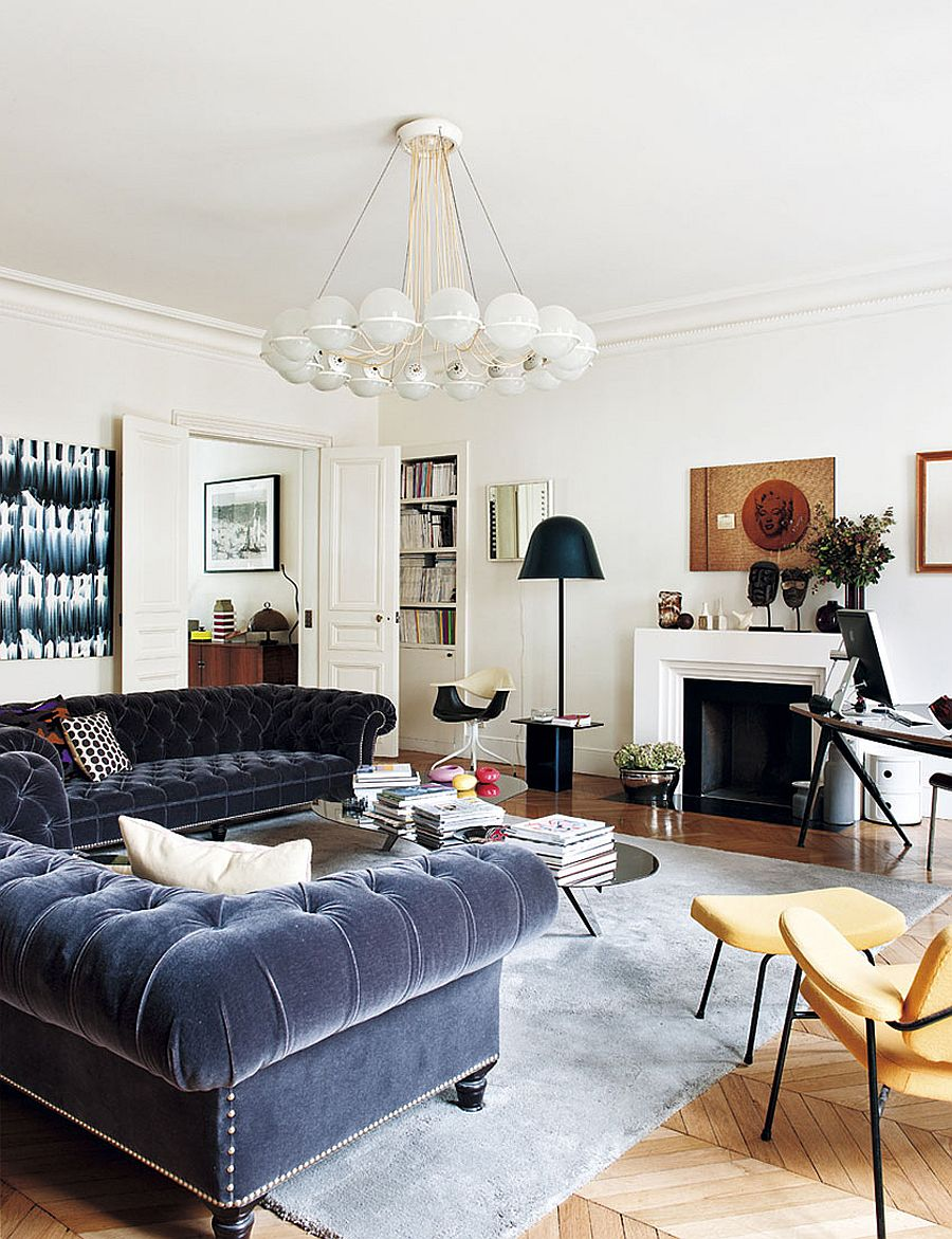 Decorating Parisian Style: Chic Modern Apartment by Sandra ... on Trendy Room  id=71356