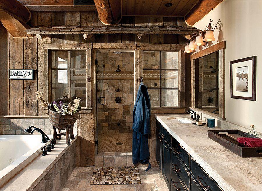 50 enchanting ideas for the relaxed rustic bathroom on rustic bathroom designs photos id=39144