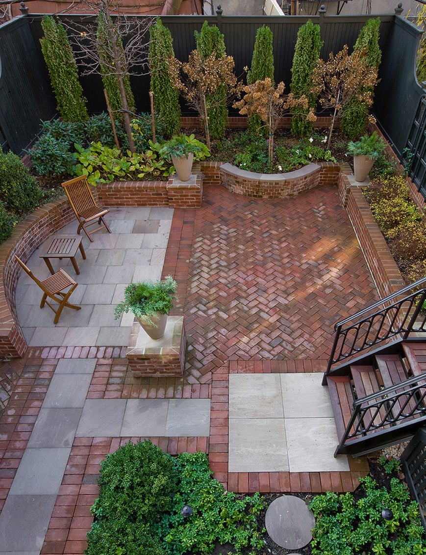 20 Charming Brick Patio Designs on Small Backyard Brick Patio Ideas  id=67448