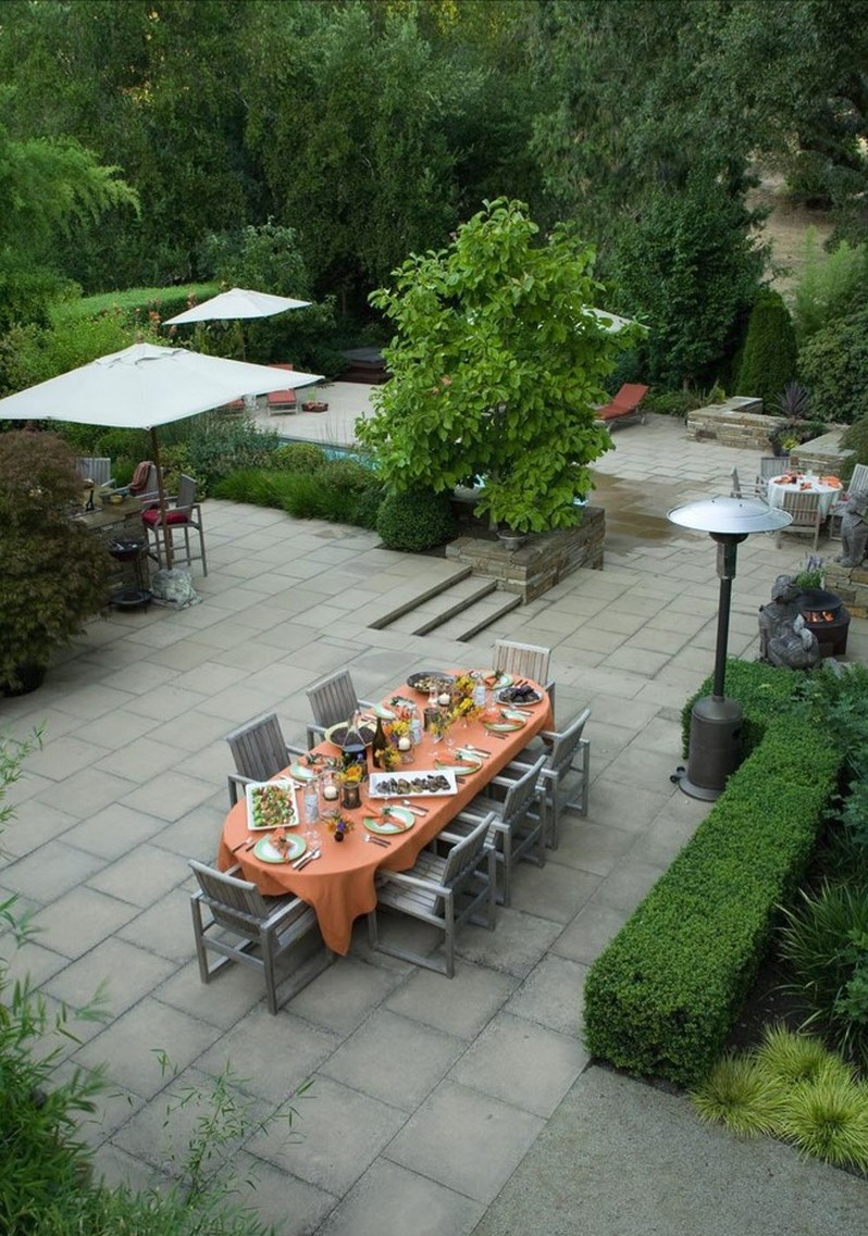10 Paver Patios That Add Dimension and Flair to the Yard on Yard Paver Ideas  id=54466