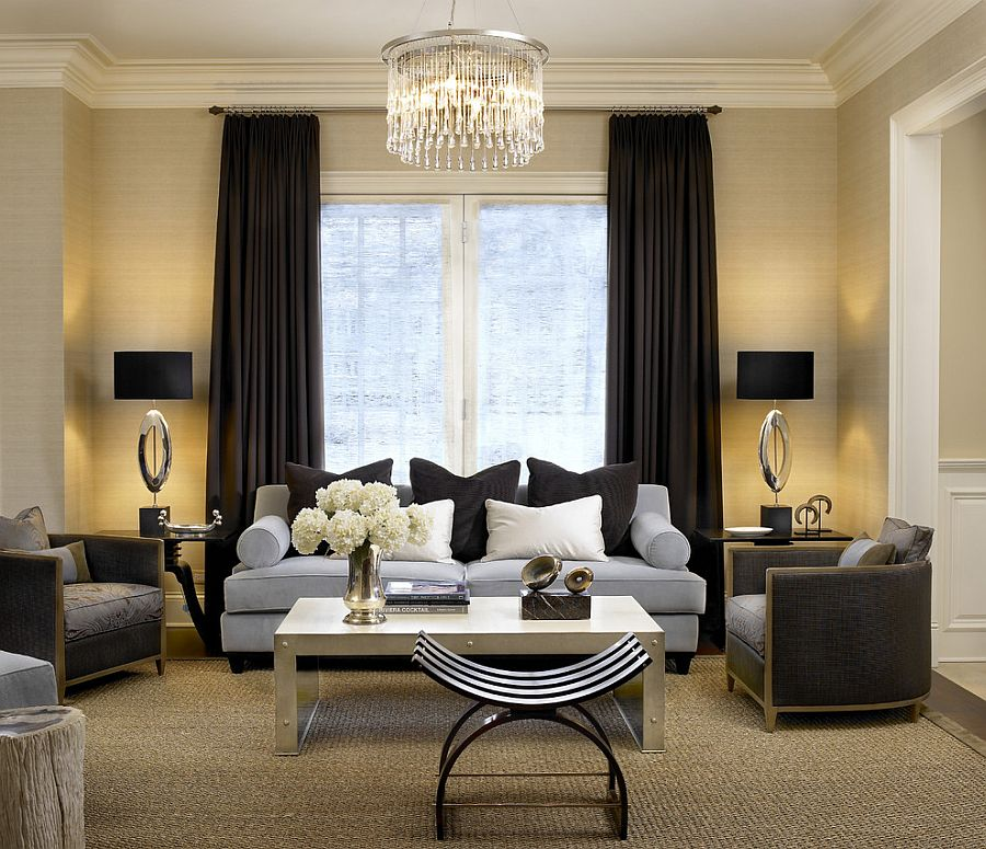 how to use dark curtains to shape a