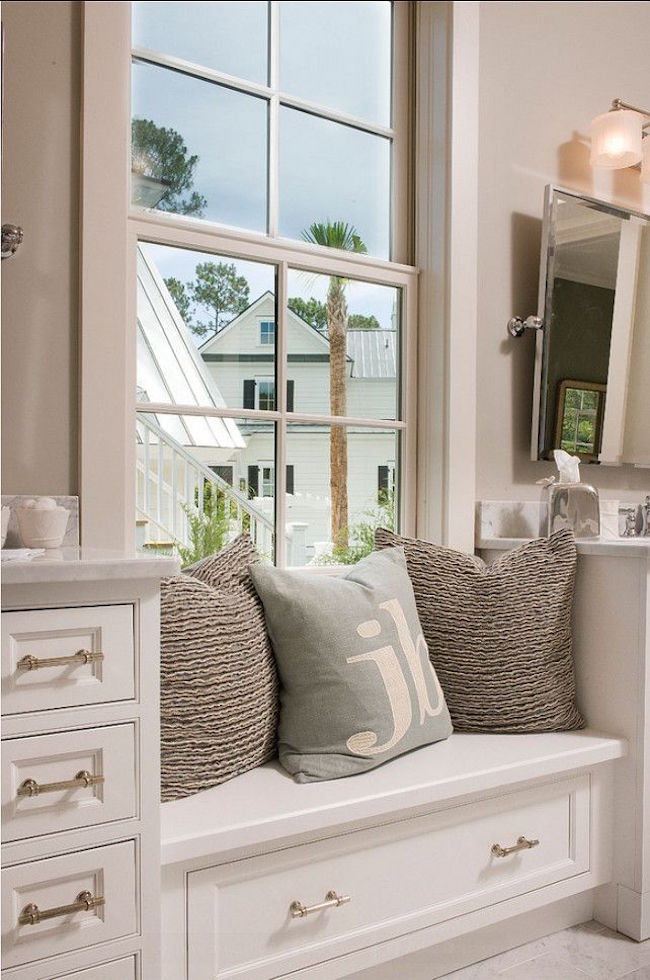 Built In Bathroom Window Seat With Storage Decoist