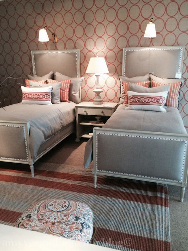 View In Gallery Creative Use Of Pattern Guest Room With Twin Beds