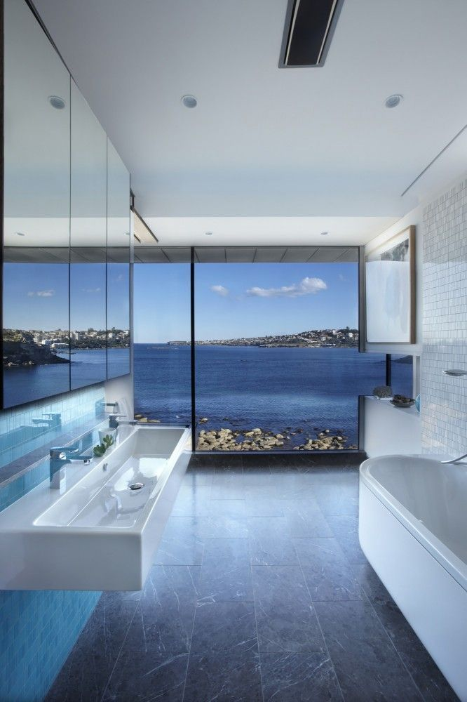 Spectacular Bathroom Design With A View