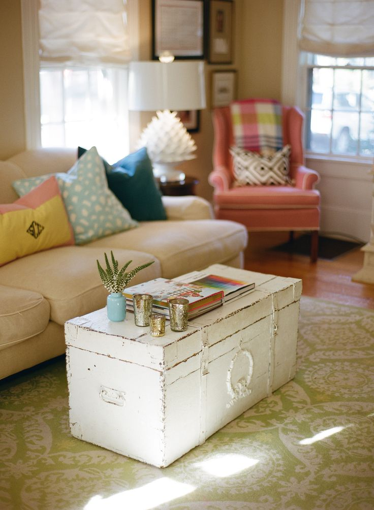 16 old trunks turned coffee tables that
