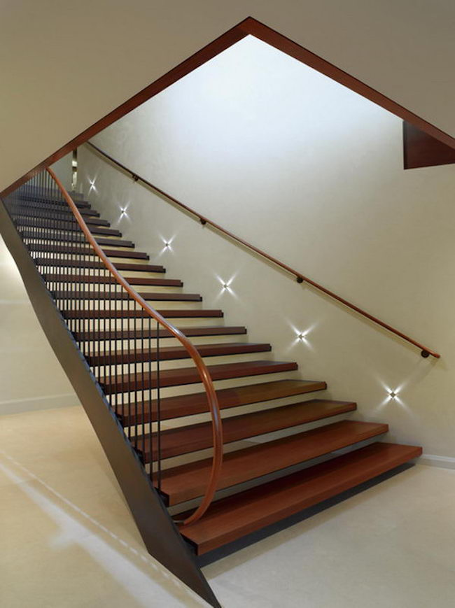 modern staircases with spectacular lighting