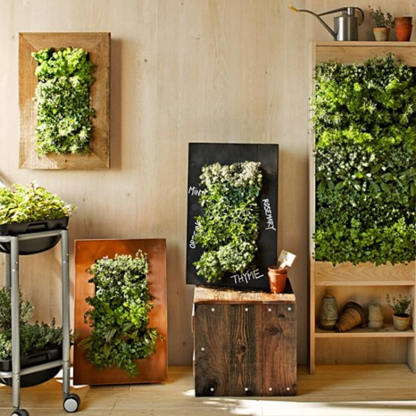 free standing vertical wall garden 8 Easy Ways to Create a Vertical Garden Wall Inside Your Home