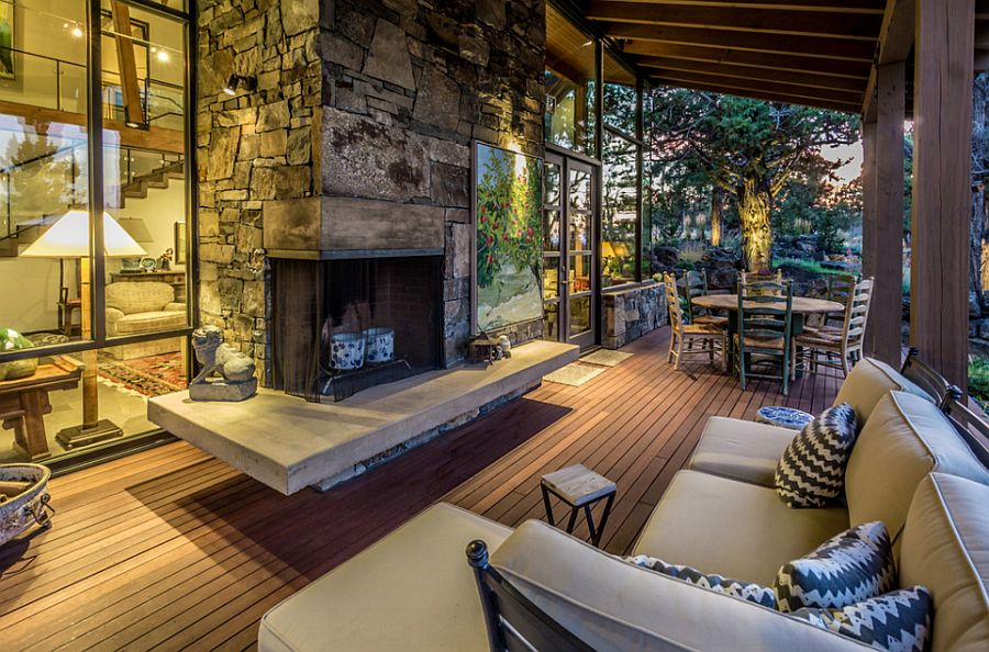 25 Awesome Rustic Decks That Offer a Tranquil Escape on Backyard Patio Extension Ideas id=11600