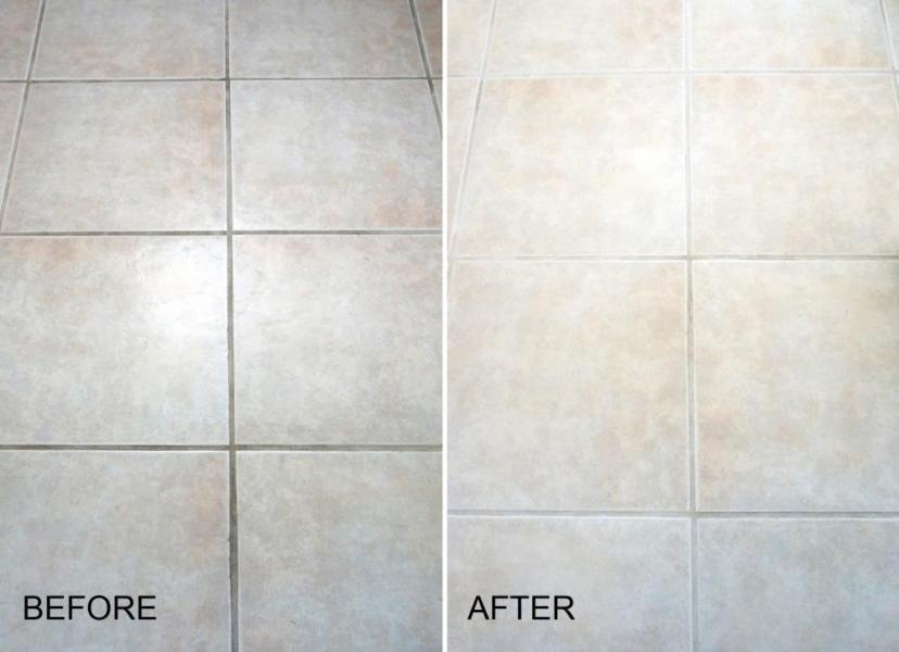 Does Cleaning Grout with Baking Soda and Vinegar Really Work  View in gallery Adventures in grout cleaning