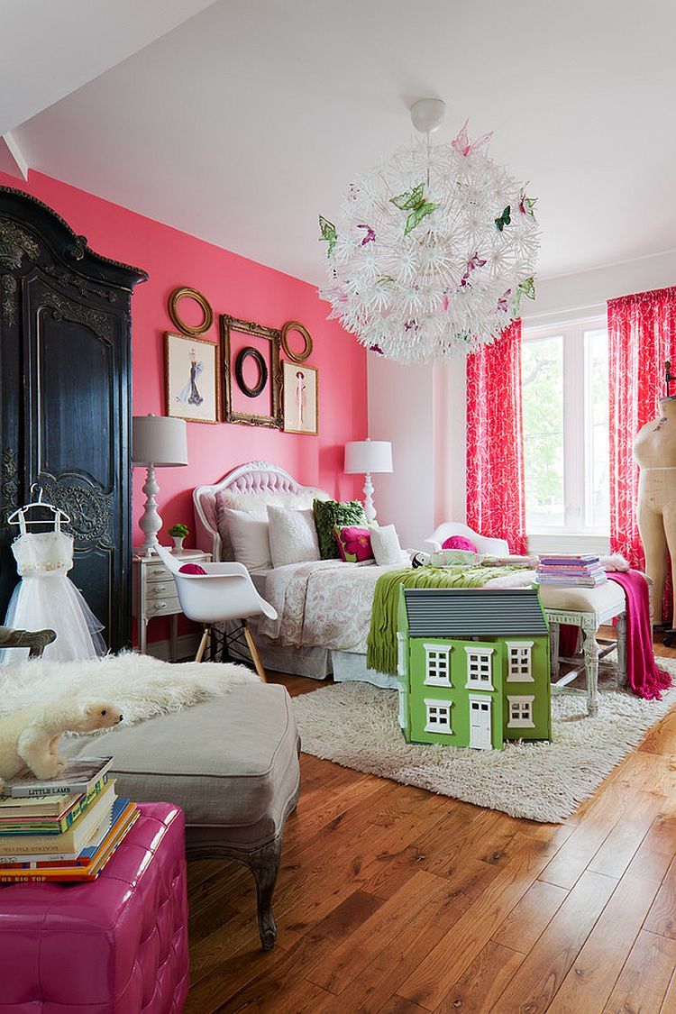 Hot Trend: 30 Creative Ways to Decorate with Empty Frames on Beautiful Room Design For Girl  id=56879