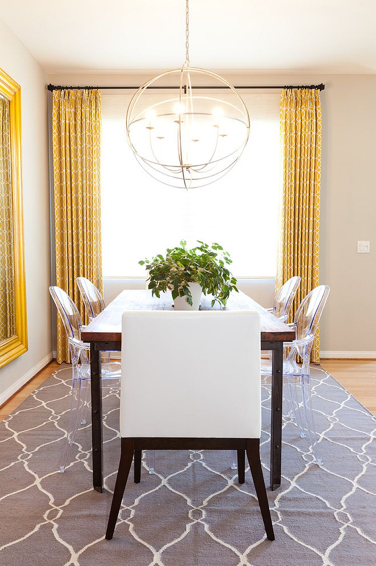 Trendy Color Duo: 20 Dining Rooms That Serve up Gray and ... on Dining Room Curtains  id=37269