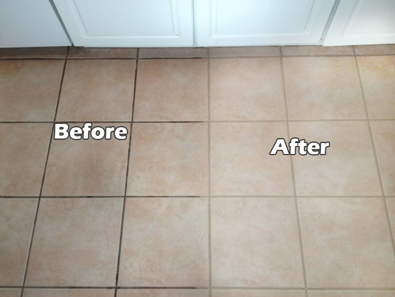 Does Cleaning Grout with Baking Soda and Vinegar Really Work  View in gallery Grout cleaning and sealing can make a big difference
