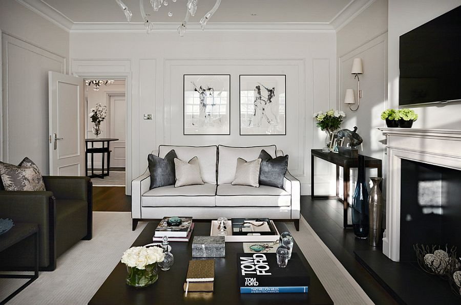 how to style around a black coffee table