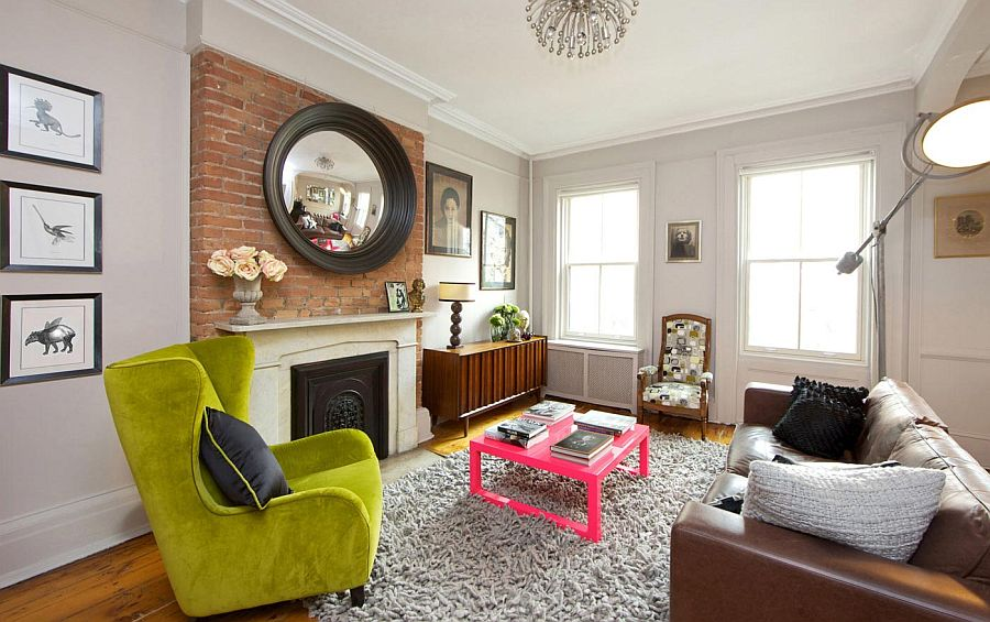 Vibrant New York City Townhouse Cuts Across Styles And Eras. Living Room  Furniture New York City Modern Decor Ideas Stair ... Part 81