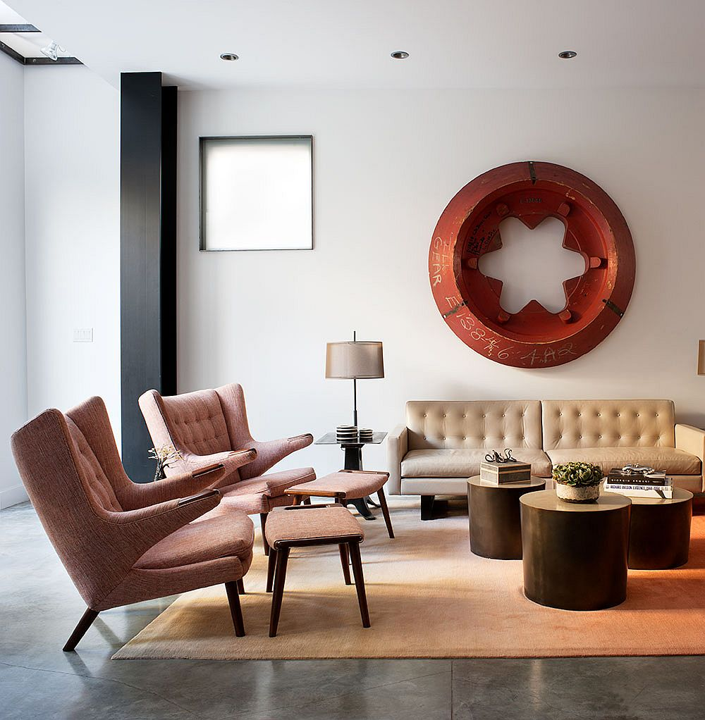 Modern Industrial Bachelor Pad Filled With Iconic Dcor