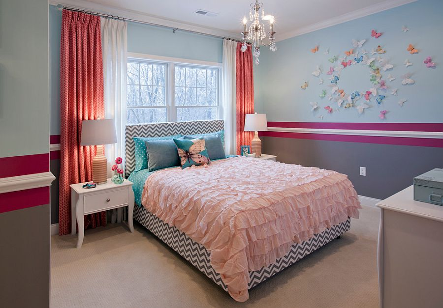 25 Kids' Bedrooms Showcasing Stylish Chevron Pattern on Bedroom Ideas For Girls Small Room  id=97296