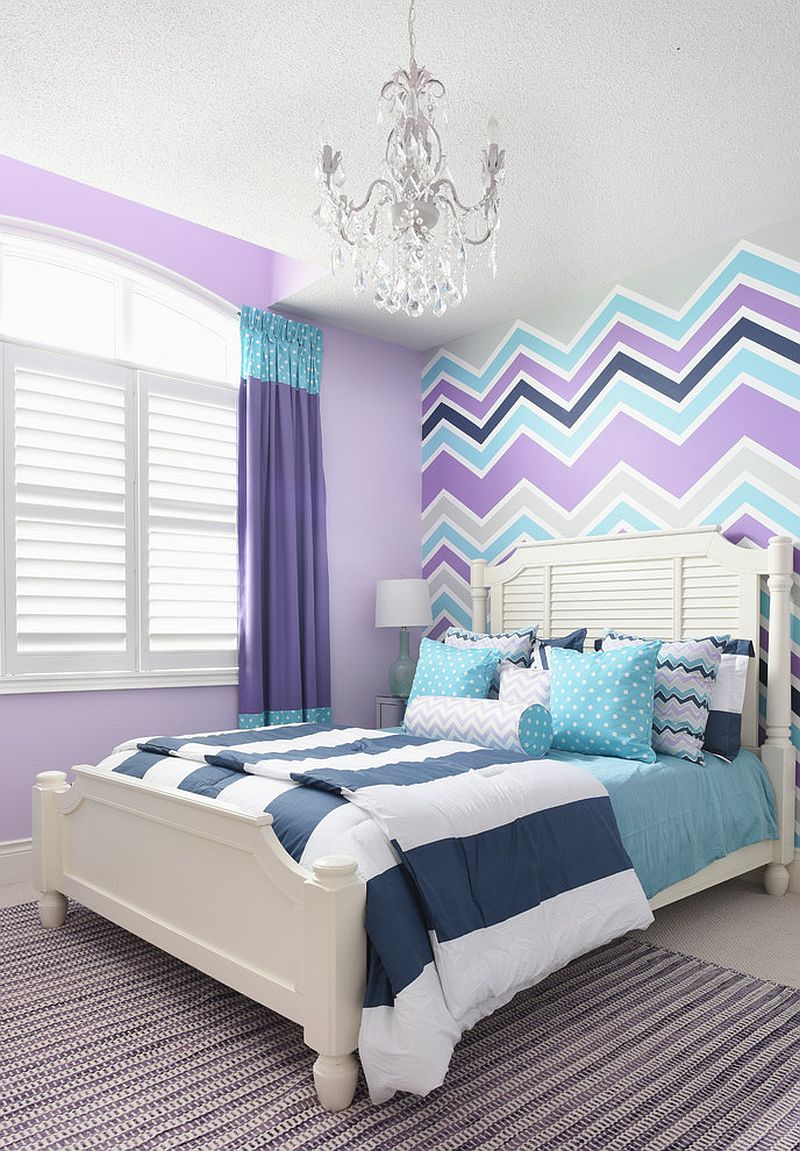 25 Kids' Bedrooms Showcasing Stylish Chevron Pattern on Bedroom Models  id=96118