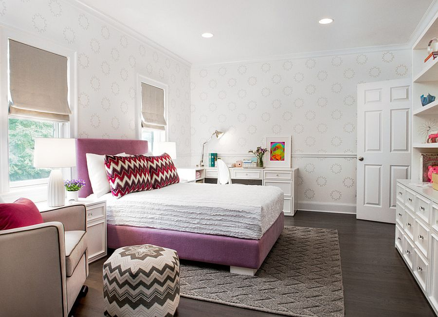 25 Kids' Bedrooms Showcasing Stylish Chevron Pattern on Best Rooms For Girls  id=88395