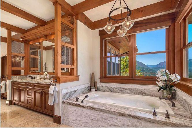 luxury stone shower robeson design transitional bathroom