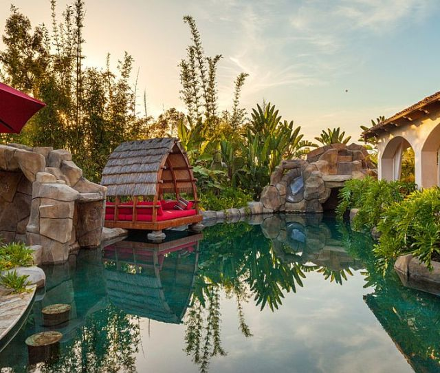 View In Gallery Amazing Tropical Garden And Pool Inspired Design Elements From Bali Design Distinguished Pools