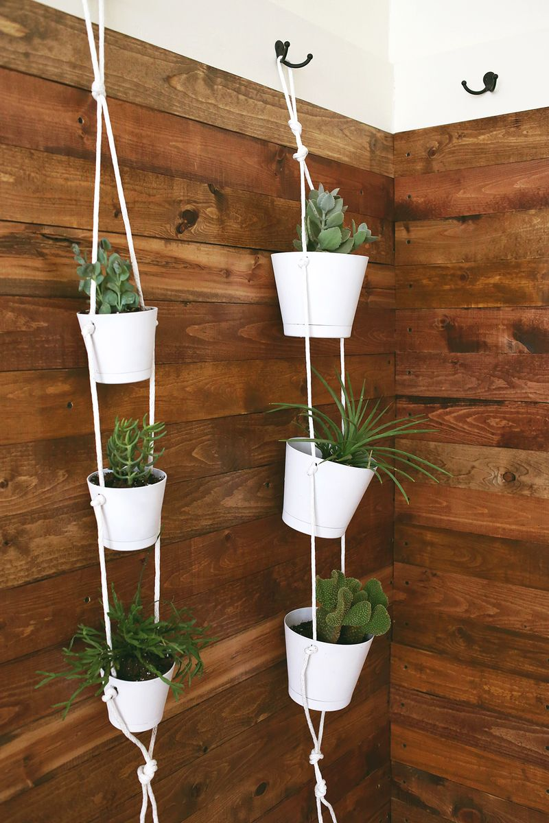 20 DIY Projects Featuring Rope Crafts on Hanging Plant Pots Indoor  id=66197