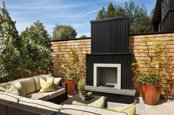 small outdoor patio fireplaces Sizzling Style: How to Decorate a Stylish Outdoor Hangout