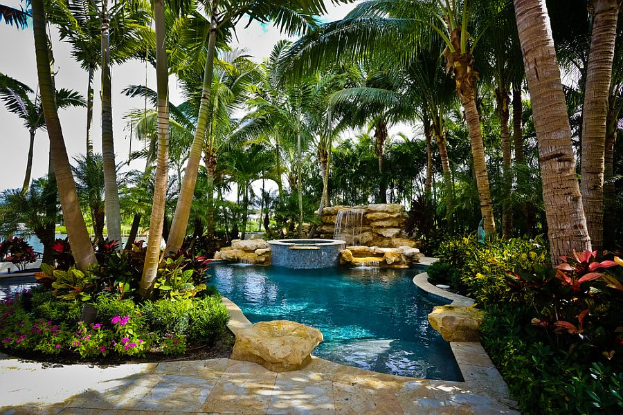 25 Spectacular Tropical Pool Landscaping Ideas on Tropical Small Backyard Ideas id=40518