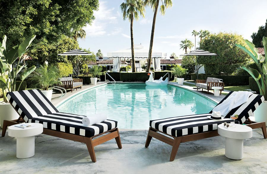 Patio Furniture and Decor Trend: Bold Black and White on Black And White Backyard Decor  id=45283