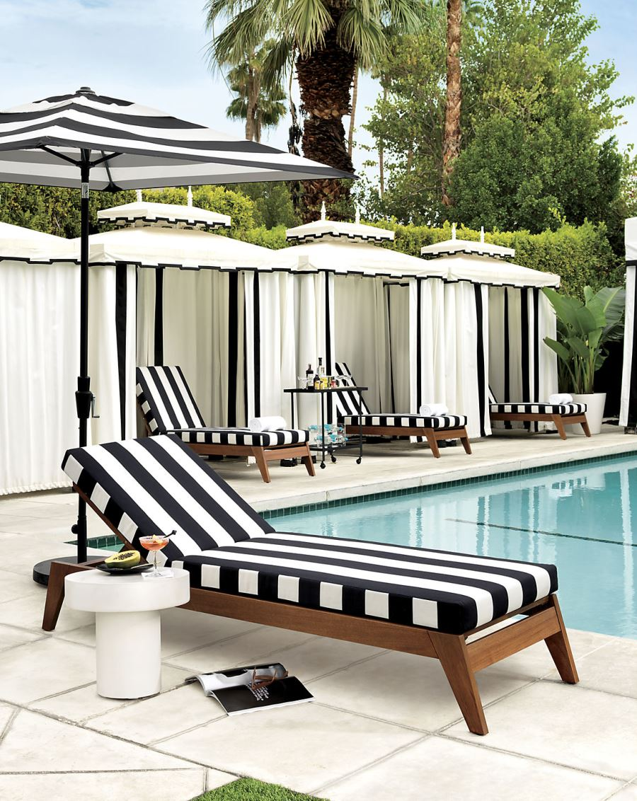 Patio Furniture and Decor Trend: Bold Black and White on Black And White Backyard Decor  id=29319