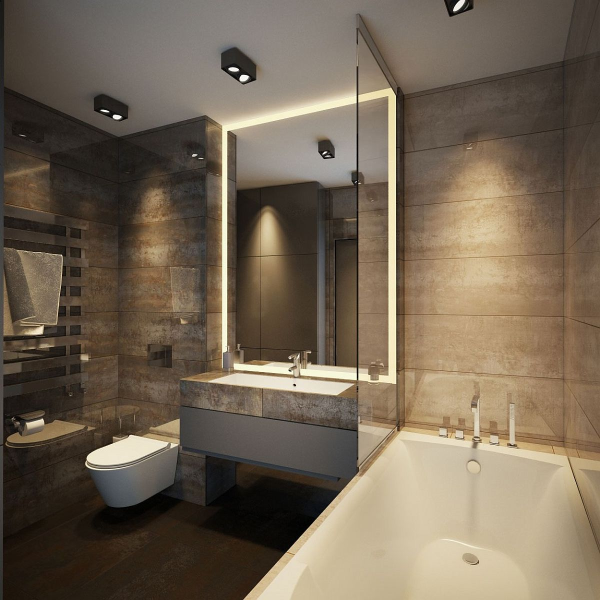 Apartment Ernst in Kiev: Inspired by Posh Hotel Ambiance on Apartment Bathroom  id=49087