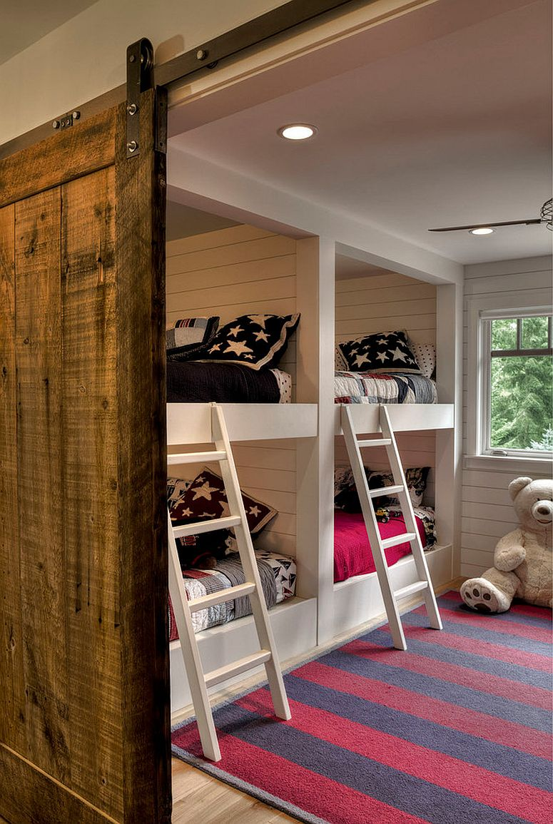 27 Creative Kids Rooms With Space Savvy Sliding Barn Doors