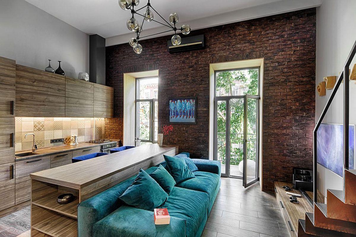 Mezzanine-Level Bedroom Adds Extra Space To Small Kiev