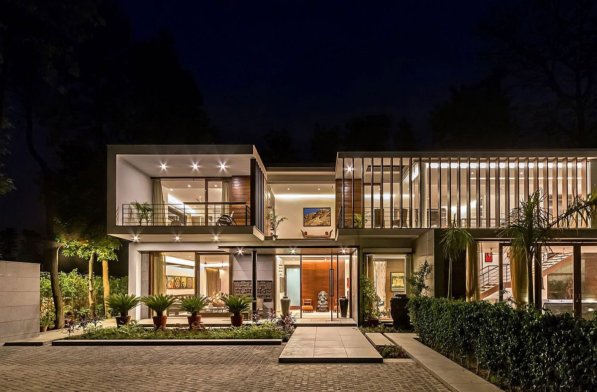 Wooden Slats, Glass Walls and Modern Grandeur: Gallery ... on Modern Glass Houses  id=98303