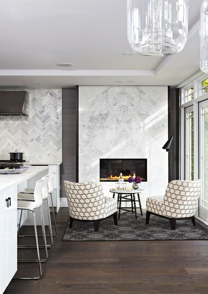 Hot Trends Give Your Kitchen Sizzling Makeover Fireplace