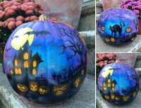 images of painted halloween pumpkins