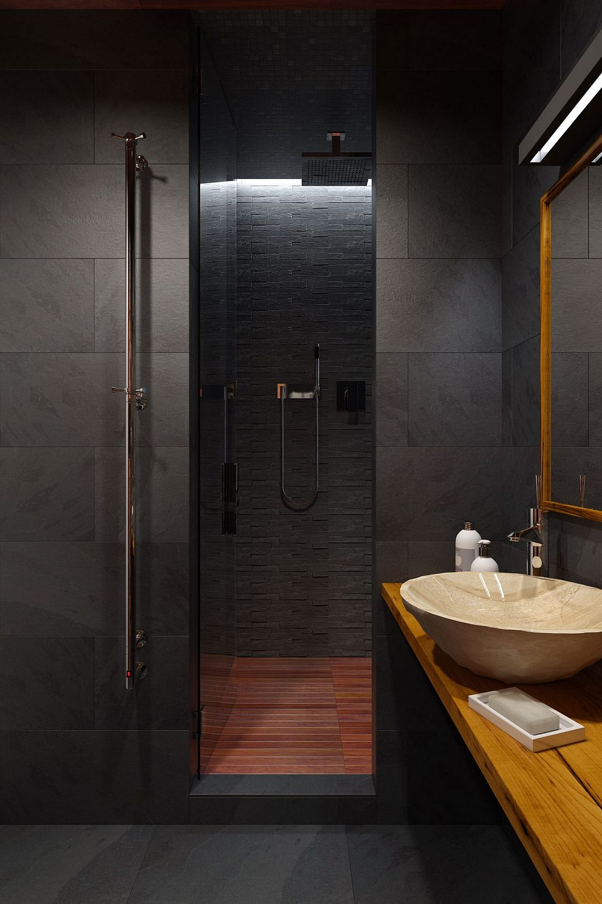 Innovative, Industrial and Space-Savvy: Tiny Bachelor Pad ... on Small Area Bathroom Ideas  id=90202