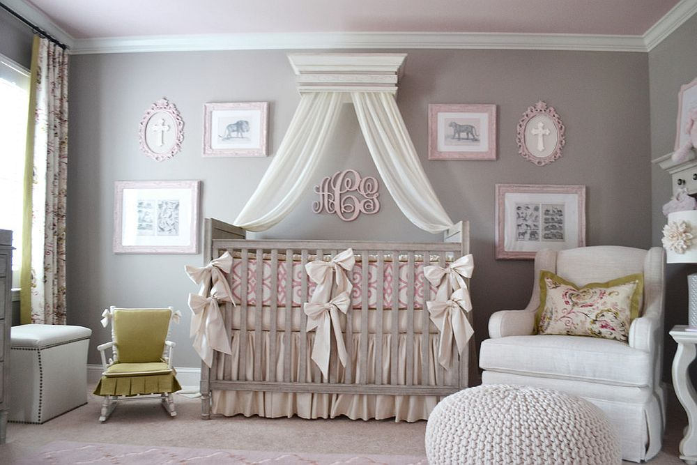 Trendy And Chic: Gray And Pink Nurseries That Delight