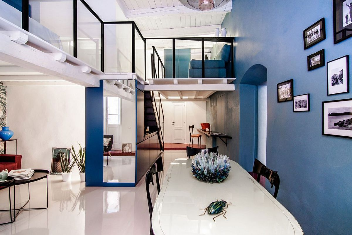 Space Savvy Italian Home Delights With A Nifty Mezzanine Level Bedroom