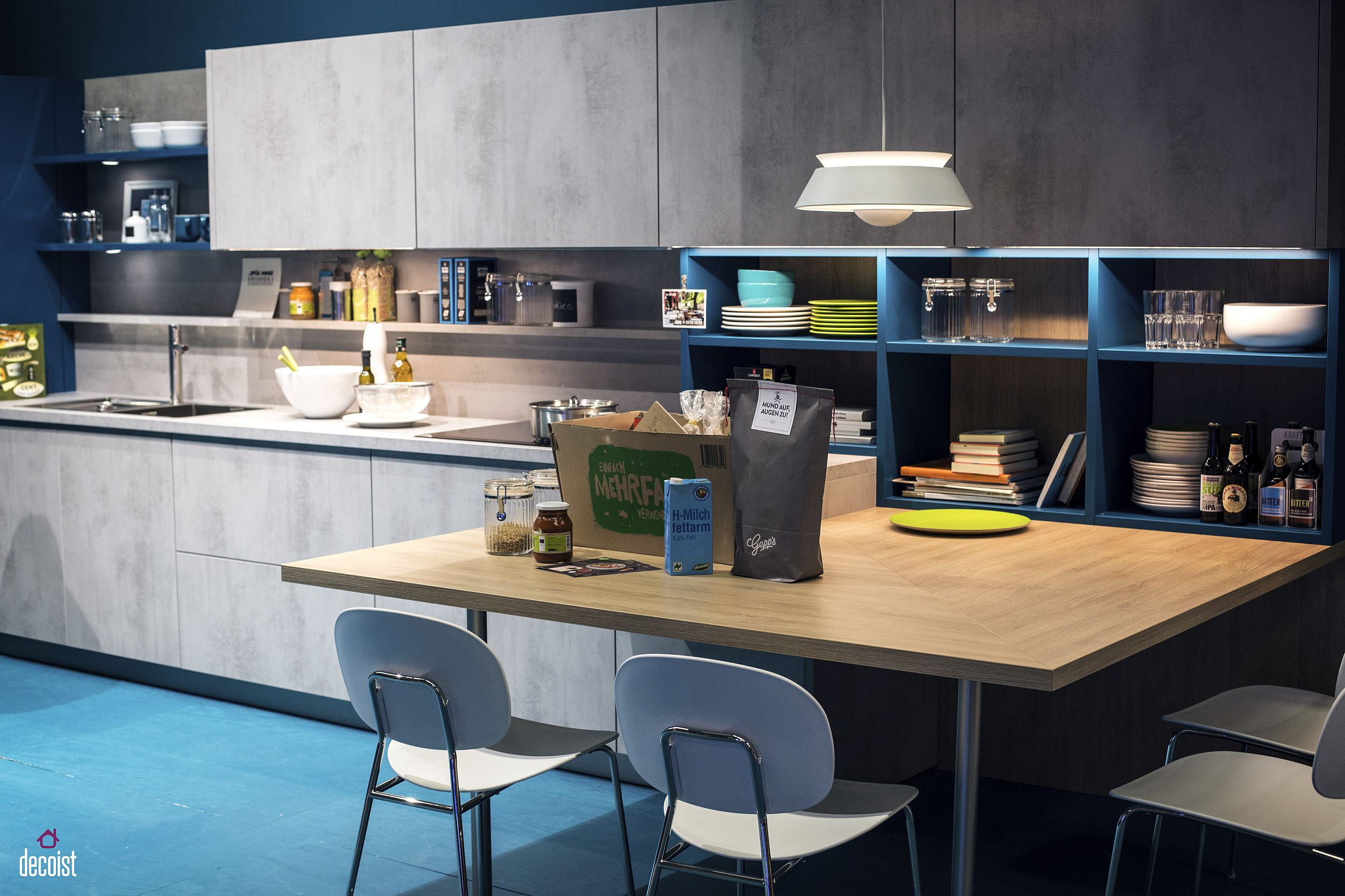 Practical and Trendy: 40 Open Shelving Ideas for the ... on Modern Kitchen Decorations  id=33435