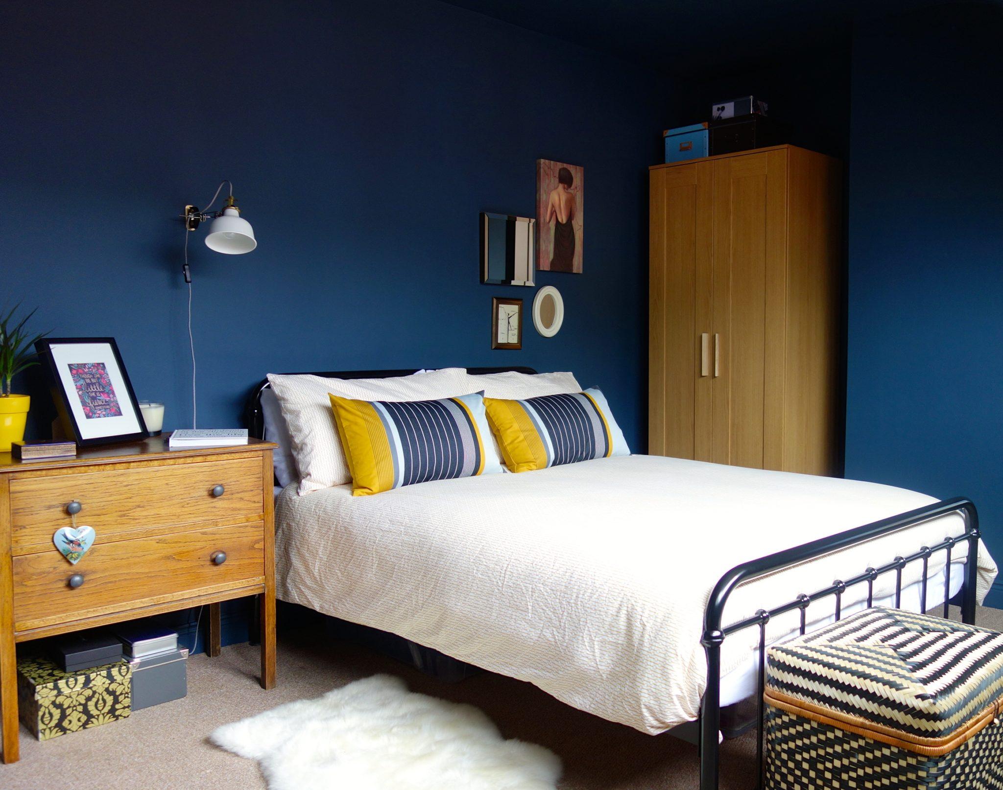 moody interior breathtaking bedrooms in shades of blue on Dark Blue Bedroom Ideas id=67459